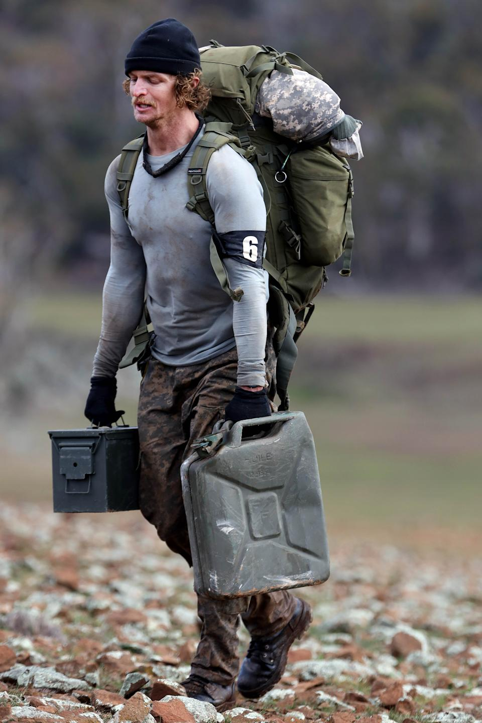Honey Badger carrying water on SAS Australia