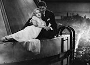 <p>Fay Wray's character might have been under distress in this scene, but the actress's white gown with a sweetheart neckline has been tied to the <em>King Kong </em>franchise ever since. </p>