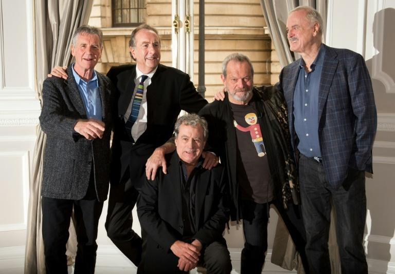 British comedy troupe Monty Python featured (from left) Michael Palin, Eric Idle, Terry Jones, Terry Gilliam and John Cleese (AFP Photo/LEON NEAL)