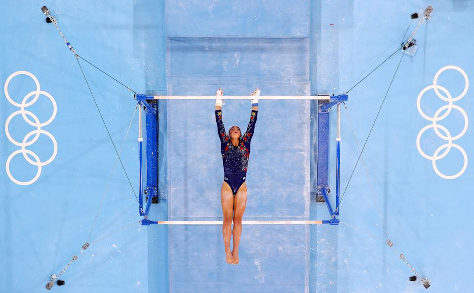 """<p>McCallum is 5' 3 1/2"""" tall, making her one of the tallest in elite gymnastics.</p>"""
