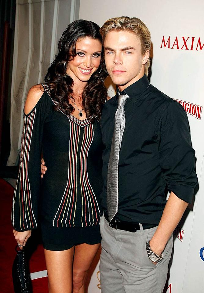 "Julianne's brother Derek Hough cozied up to gal pal Shannon Elizabeth. Jason Merritt/<a href=""http://www.gettyimages.com/"" target=""new"">GettyImages.com</a> - May 13, 2009"