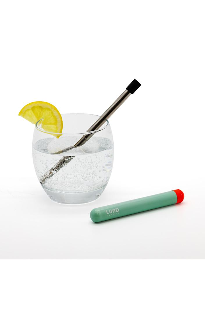 "This straw is way more eco-friendly than those single-use ones you get at a bar. <a href=""https://fave.co/2R0opXK"" rel=""nofollow noopener"" target=""_blank"" data-ylk=""slk:Find it for $18 at Nordstrom"" class=""link rapid-noclick-resp"">Find it for $18 at Nordstrom</a>."