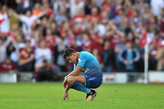 Alexis Sanchez surveys Arsenal's Anfield wreckage from an all-time low point