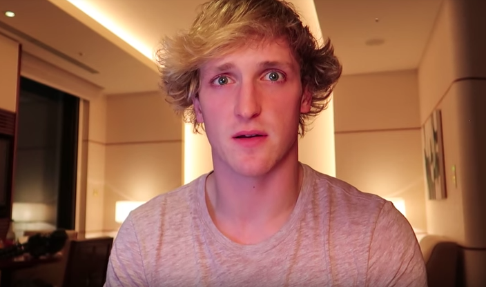 He taped an apology after his first attempt was poorly received. Source: YouTube/Logan Paul