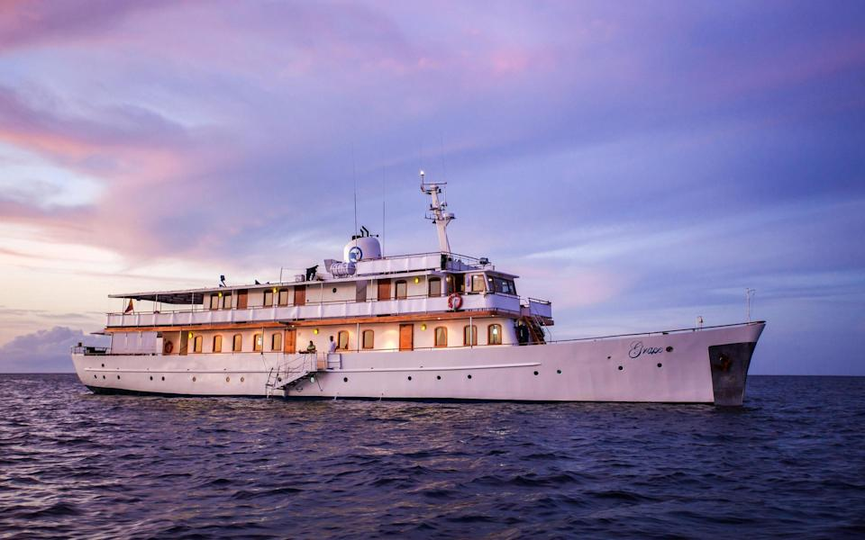Make MS Grace your home during a voyage around the Galapagos