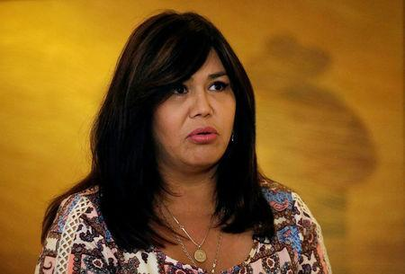 FILE PHOTO: Guachochi mayoral candidate Magda Rubio speaks during an interview with Reuters in Ciudad Juarez, Mexico March 31, 2018. REUTERS/Jose Luis Gonzalez/File Photo