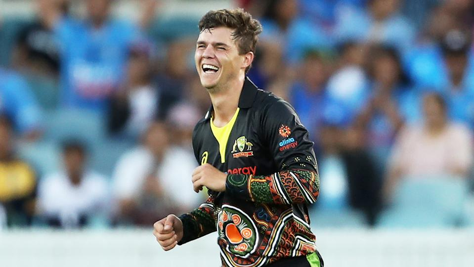 Mitch Swepson (pictured) celebrating after a wicket in the T20.