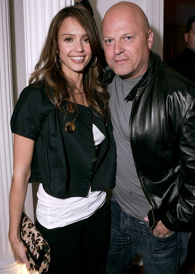 "Jessica Alba and Michael Chiklis. Chris Weeks/<a href=""http://www.wireimage.com"" target=""new"">WireImage.com</a> - May 31, 2007"