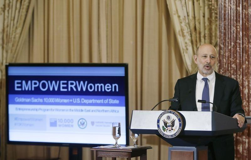Goldman Sachs Chairman and CEO, Lloyd Blankfein, delivers remarks at the Goldman Sachs 10,000 Women/State Department Entrepreneurship Program at the State Department in Washington