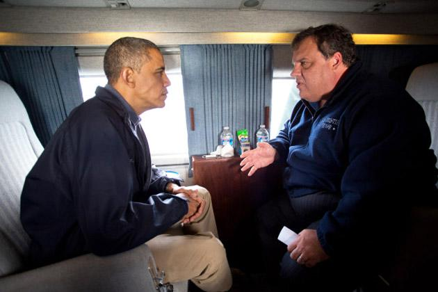 Intense RT @jaketapper Official White House Photo of Christie/Obama - @Chris_Moody , via Twitter
