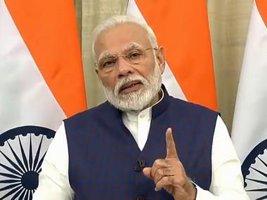 Prime Minister Narendra Modi speaks on the Union Budget 2020-21. PTI