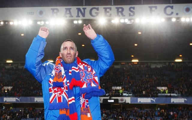 Rangers fans paid tribute to Fernando Ricksen at a tribute match at Ibrox