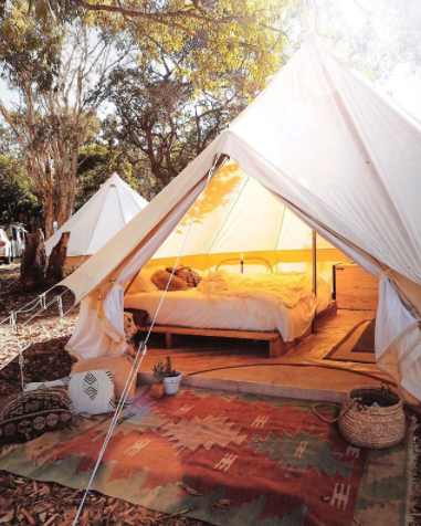 """<p>It's no secret Straddie has the best beaches in the world (yes, big call but it's true) and now you can camp on them in style thanks to the folks at <a rel=""""nofollow"""" href=""""https://www.minjerribahcamping.com.au/location/2-adder-rock/accom-14-glamping-tent--double?dates=2018-02-08%2C2018-02-09&adults=2&kids=0&infants=0<br/>"""">Minjerribah Camping.</a> The luxe cabins and tents are situated at a prime location at Adder Rock Camping Ground at the island's famous Point Lookout, and boast resort-style bedding, linens and five-star views. Cost starts at $99 per night per couple.</p><br/>"""