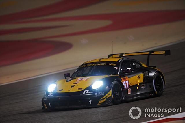 "#57 Team Project 1 Porsche 911 RSR: Ben Keating, Larry ten Voorde, Jeroen Bleekemolen <span class=""copyright"">JEP / Motorsport Images</span>"