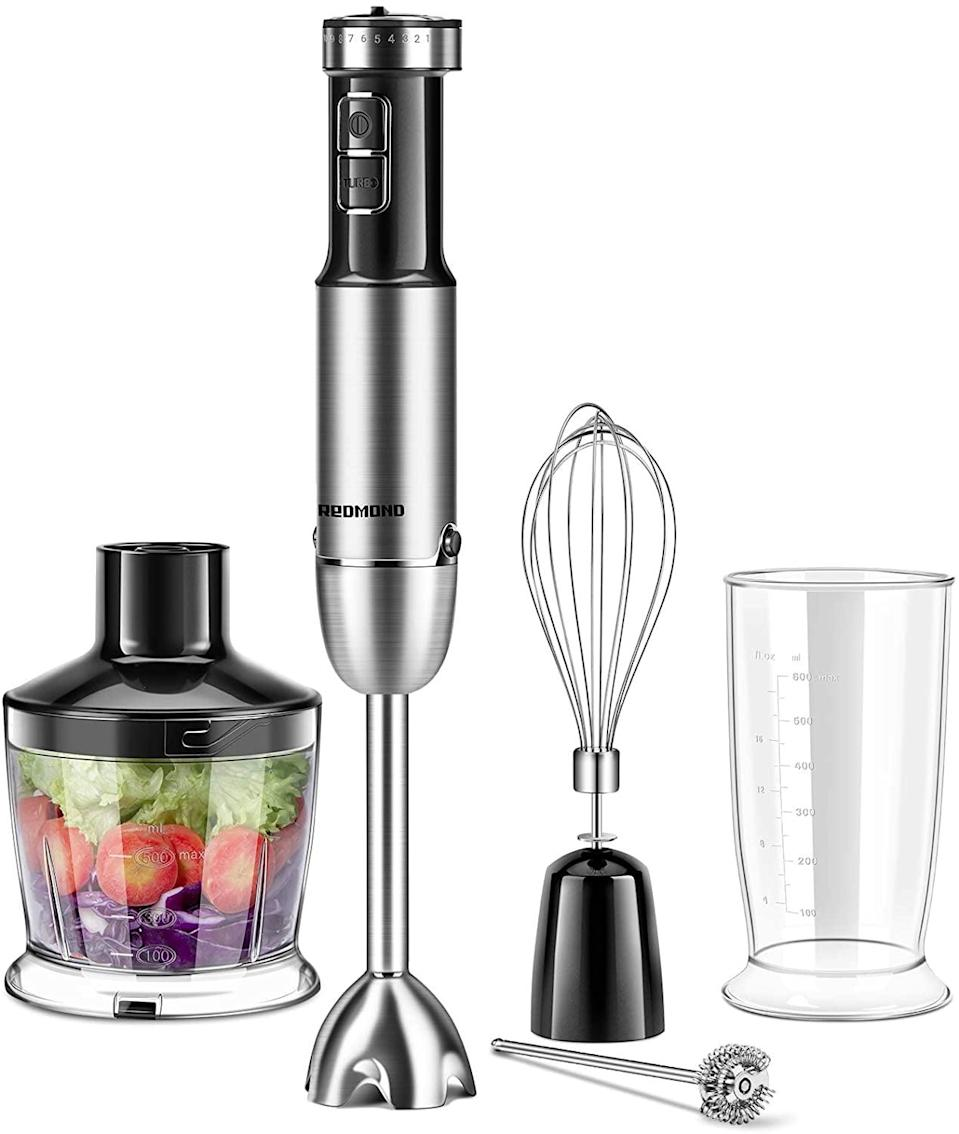 <p>The <span>Megawise 5-in-1 Immersion Hand Blender</span> ($50) is perfect for smoothies, soups, and everything in between.</p>