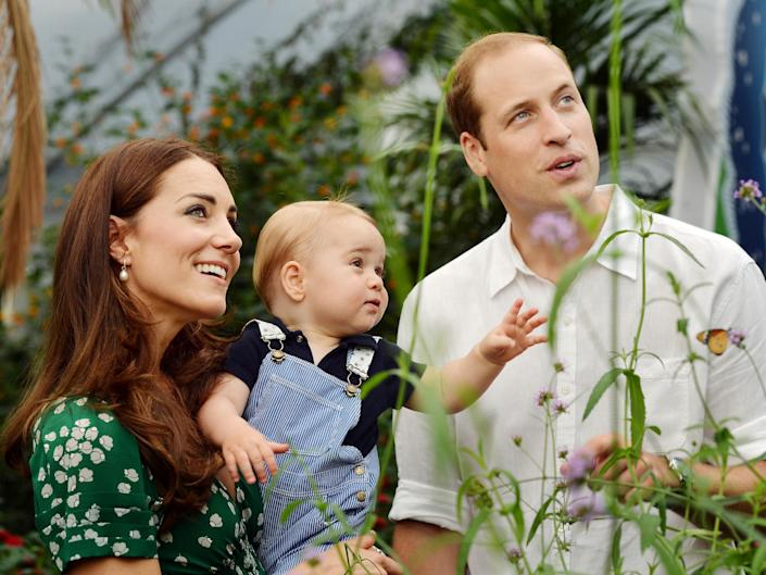 The Duke and Duchess of Cambridge with Prince George at the Natural History Museum on 2 July 2014: Getty Images