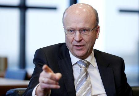 European Court of Justice president Lenaerts speaks during an interview with Reuters in Luxembourg