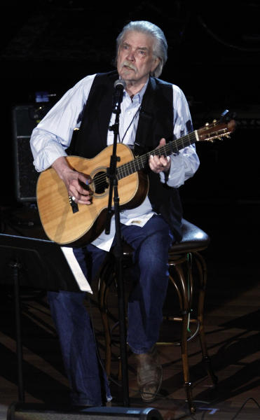 Guy Clark performs at the 11th annual Americana Honors & Awards, Wednesday Sept. 12, 2012, in Nashville, Tenn. (Photo by Wade Payne/Invision/AP)