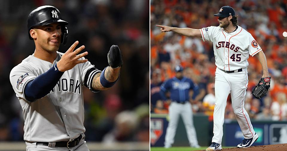 Gleyber Torres and Gerrit Cole helped their teams to the ALCS with great performances in the first round. (Getty Images)