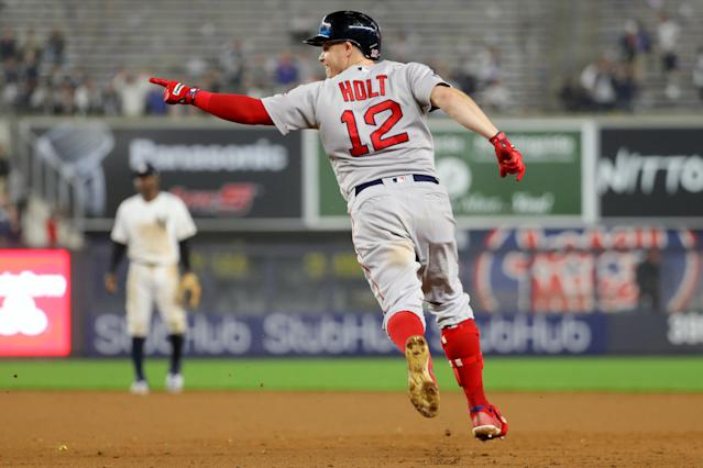 Brock Holt's historic cycle capped a dominant night for the Boston Red Sox in a 16-1 win over the New York Yankees. (Getty)