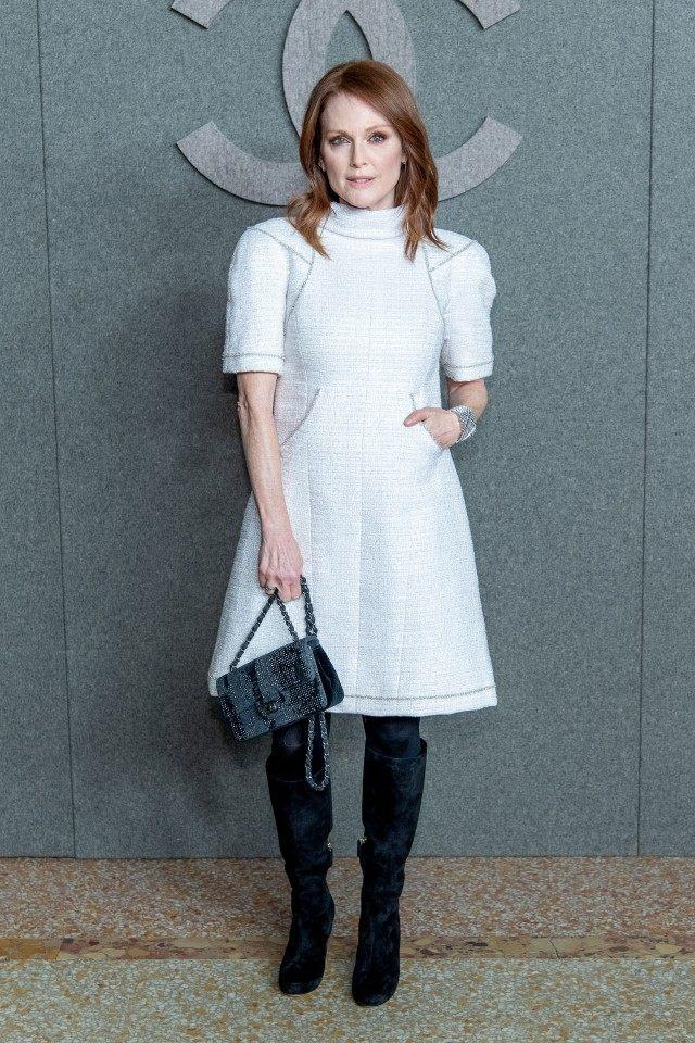 Julianne Moore at Chanel pre-fall show