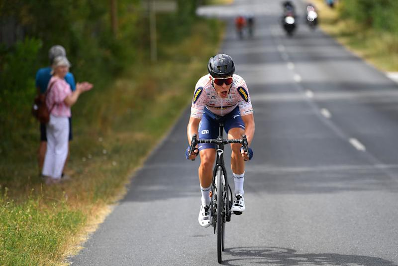 CAP DCOUVERTE FRANCE AUGUST 02 Emil Nygaard Vinjebo of Denmark and Riwal Readynez Cycling Team during the 44th La Route dOccitanie La Depeche du Midi 2020 Stage 2 a 1745km stage from Carcassonne to Cap Dcouverte 344m RouteOccitanie RDO2020 on August 02 2020 in Cap Dcouverte France Photo by Justin SetterfieldGetty Images