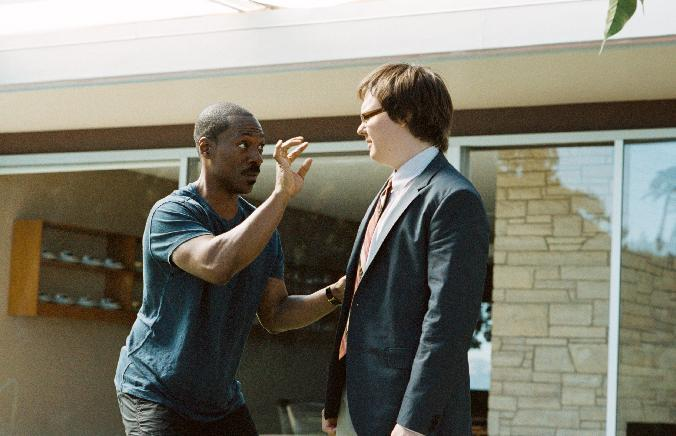 """In this film image released by Paramount Pictures, Eddie Murphy, left, and Clark Duke are shown in a scene from """"A Thousand Words."""" (AP Photo/Paramount - DreamWorks Pictures, Bruce McBroom)"""