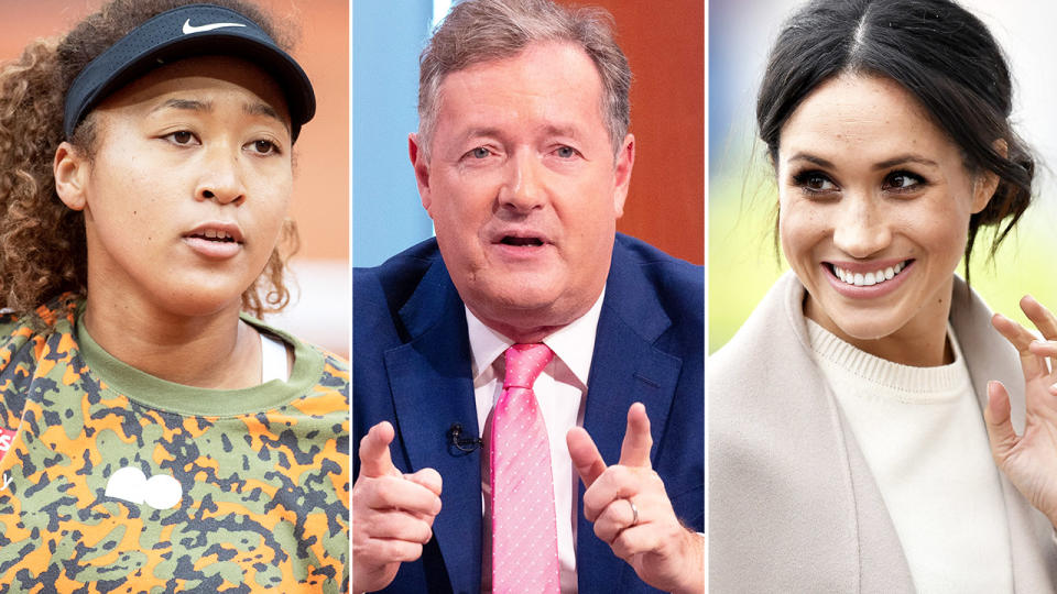 Piers Morgan, pictured here dragging Meghan Markle into his rant about Naomi Osaka.