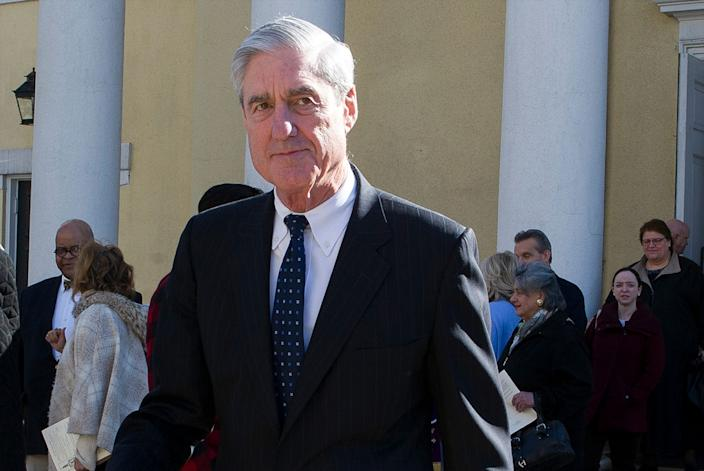 """In this March 24, 2019, photo, Special counsel Robert Mueller departs St. John's Episcopal Church, across from the White House in Washington. Democrats say they want """"all of the underlying evidence"""" in Mueller's investigation. But what is all of that evidence? (AP Photo/Cliff Owen)"""