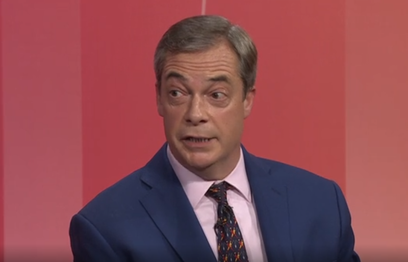 Nigel Farage told Question Time he will spoil his ballot paper (Picture: BBC)