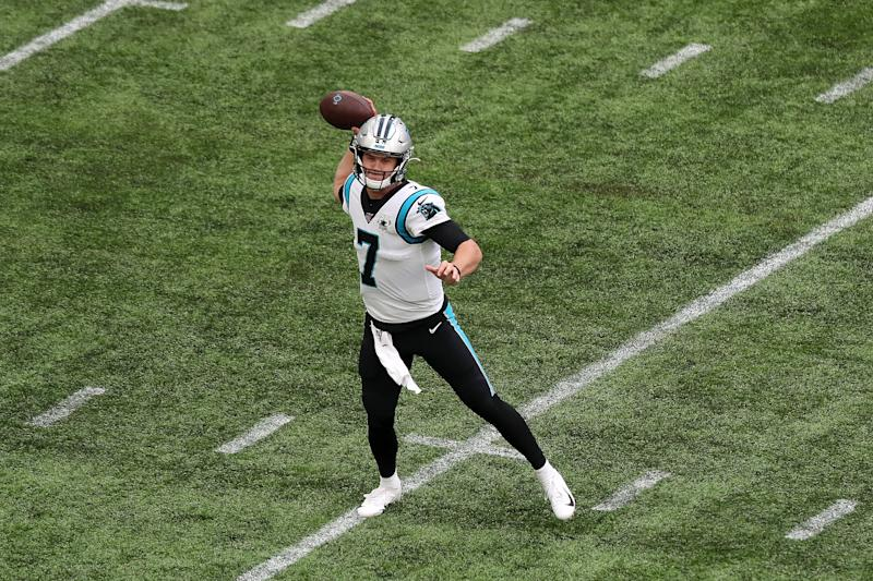 Carolina Panthers QB Kyle Allen has yet to lose an NFL start. (Getty Images)