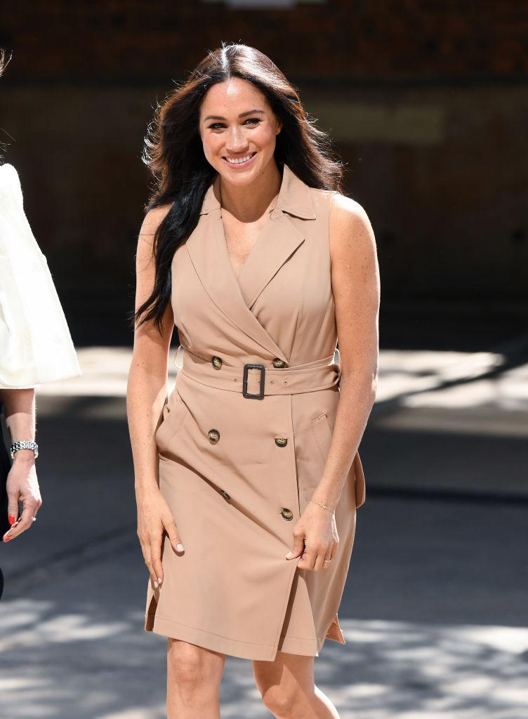 JOHANNESBURG, SOUTH AFRICA - OCTOBER 01: Meghan, Duchess of Sussex visits the University of Johannesburg on October 01, 2019 in Johannesburg, South Africa. This is part of the Duke and Duchess of Sussex's royal tour to South Africa. (Photo by Karwai Tang/WireImage)