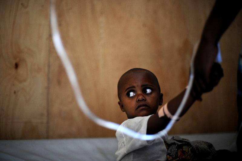 Around 600 million people fall ill from unsafe food each year -- 40 percent are children aged under five (AFP Photo/ROBERTO SCHMIDT)