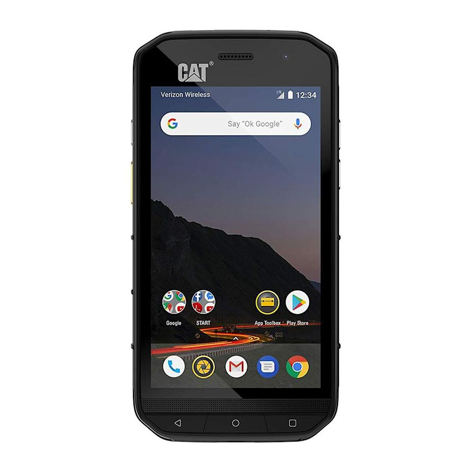 """<p><strong>CAT PHONES</strong></p><p>amazon.com</p><p><strong>$499.99</strong></p><p><a href=""""http://www.amazon.com/dp/B07N9L9R4F/?tag=syn-yahoo-20&ascsubtag=%5Bartid%7C2089.g.25228875%5Bsrc%7Cyahoo-us"""" target=""""_blank"""">Shop Now</a></p><p>The CAT S48c is the successor to the S41 we previously mentioned, but it's only compatible with Verizon and Sprint. This rugged smartphone is completely waterproof, dustproof, and is even capable of withstanding extreme temperatures and drops from up to 6 feet. It sports a 5-inch display made from Corning Gorilla Glass and it supports Sprints' push-to-talk messaging.</p><p>Unfortunately, its battery is smaller than its predecessor and it doesn't let you recharge other gadgets like the S41 does. On the plus side, it runs a newer version of Android, and has an improved processor that makes it run slightly faster.</p>"""