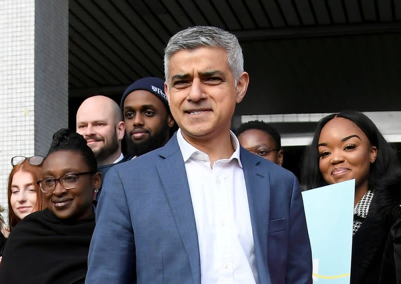 FILE PHOTO: Mayor of London Sadiq Khan launches his re-election campaign in London