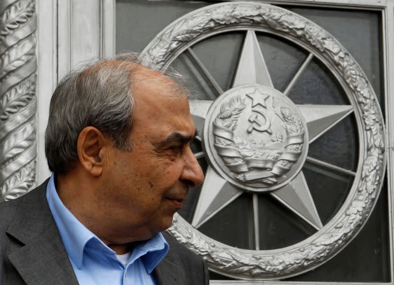 FILE PHOTO: Prominent Syrian opposition activist Kilo walks out of the Foreign Ministry headquarters after a meeting with Russia's Foreign Minister Lavrov in Moscow