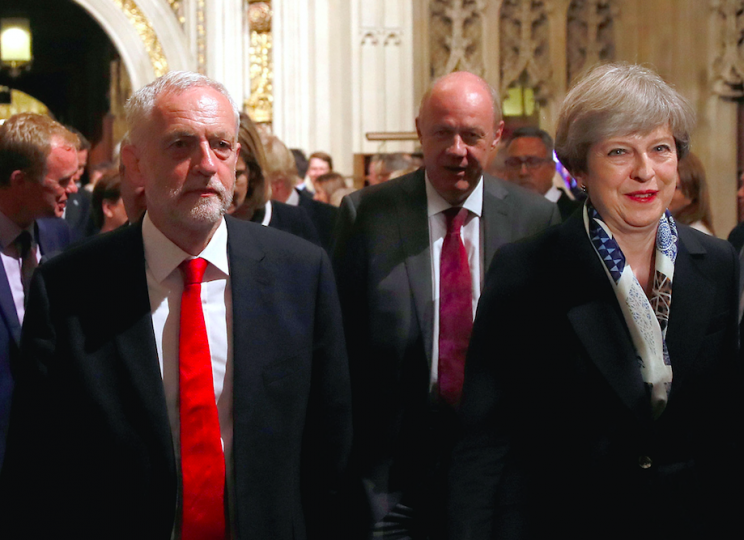 Mrs May is hoping she can get her legislative programme through with the support of the DUP (PA)