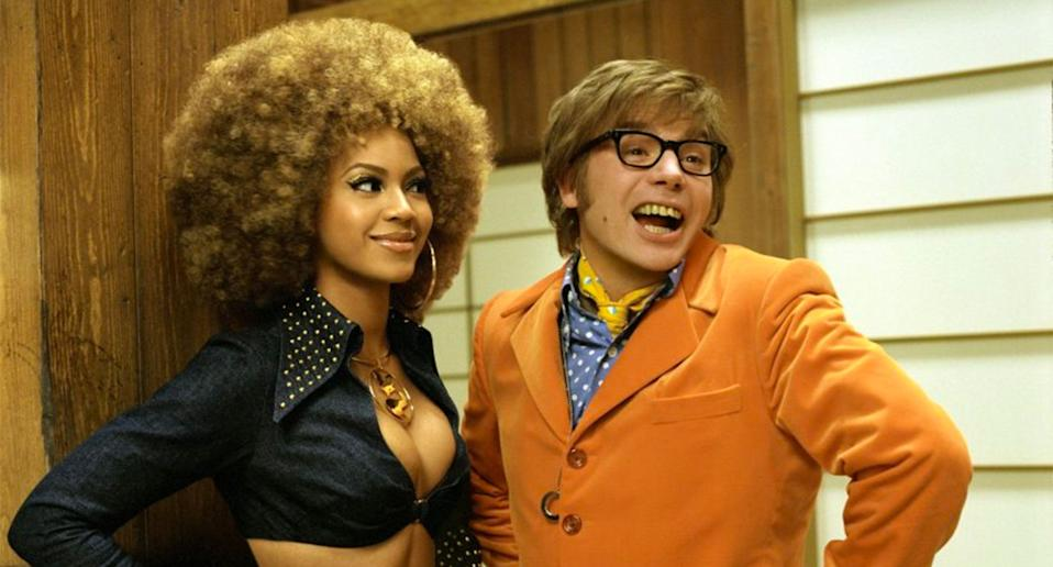 Beyoncé and Mike Myers in 2002's Austin Powers In Goldmember. (New Line)
