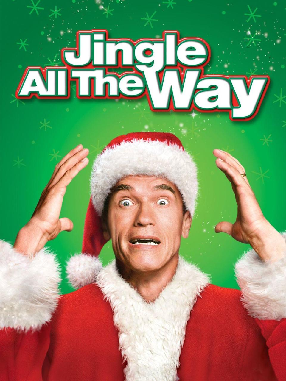 """<p>Starring Arnold Schwarzenegger and Sinbad as dads competing to get their sons the most popular Christmas toy of the year, this 1996 movie is as silly — and fun — as it sounds.</p><p><a class=""""link rapid-noclick-resp"""" href=""""https://www.amazon.com/Jingle-All-Way-Arnold-Schwarzenegger/dp/B000SW4DQM/?tag=syn-yahoo-20&ascsubtag=%5Bartid%7C10055.g.1315%5Bsrc%7Cyahoo-us"""" rel=""""nofollow noopener"""" target=""""_blank"""" data-ylk=""""slk:WATCH NOW"""">WATCH NOW</a></p>"""