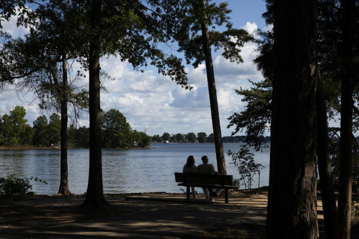 Jetton Park and Lake Norman in the suburban community of Cornelius, N.C., on July 8, 2020. (Swikar Patel/The New York Times)
