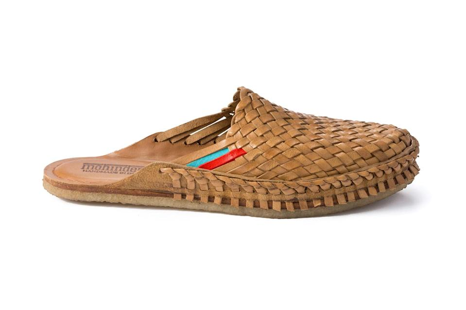 "$145, Huckberry. <a href=""https://huckberry.com/store/mohinders/category/p/50533-men-s-city-slipper-woven"" rel=""nofollow noopener"" target=""_blank"" data-ylk=""slk:Get it now!"" class=""link rapid-noclick-resp"">Get it now!</a>"
