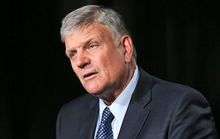The Rev. Franklin Graham is the son of the late evangelist Billy Graham and CEO of the Billy Graham Evangelistic Association. (Photo: ASSOCIATED PRESS)