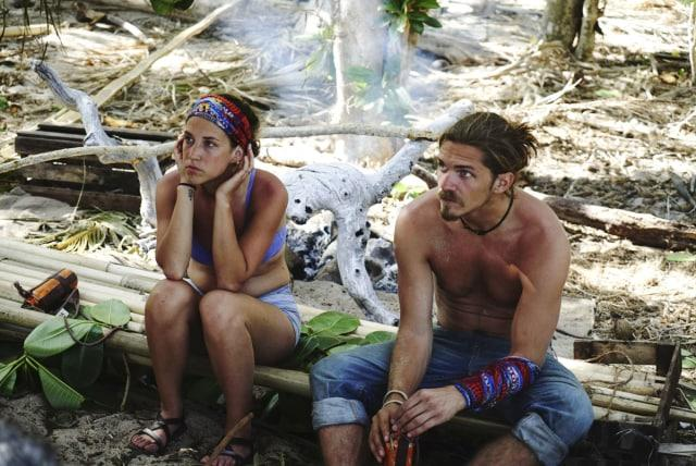 Ciera Eastin sits with Malcolm Freberg on Survivor: Game Changers