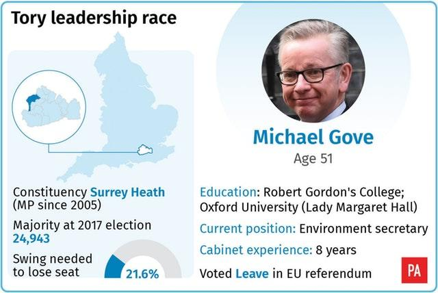 Tory leadership race: Michael Gove