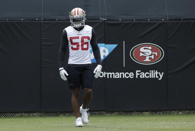 San Francisco 49ers linebacker Reuben Foster was suspended two games by the NFL. (AP)