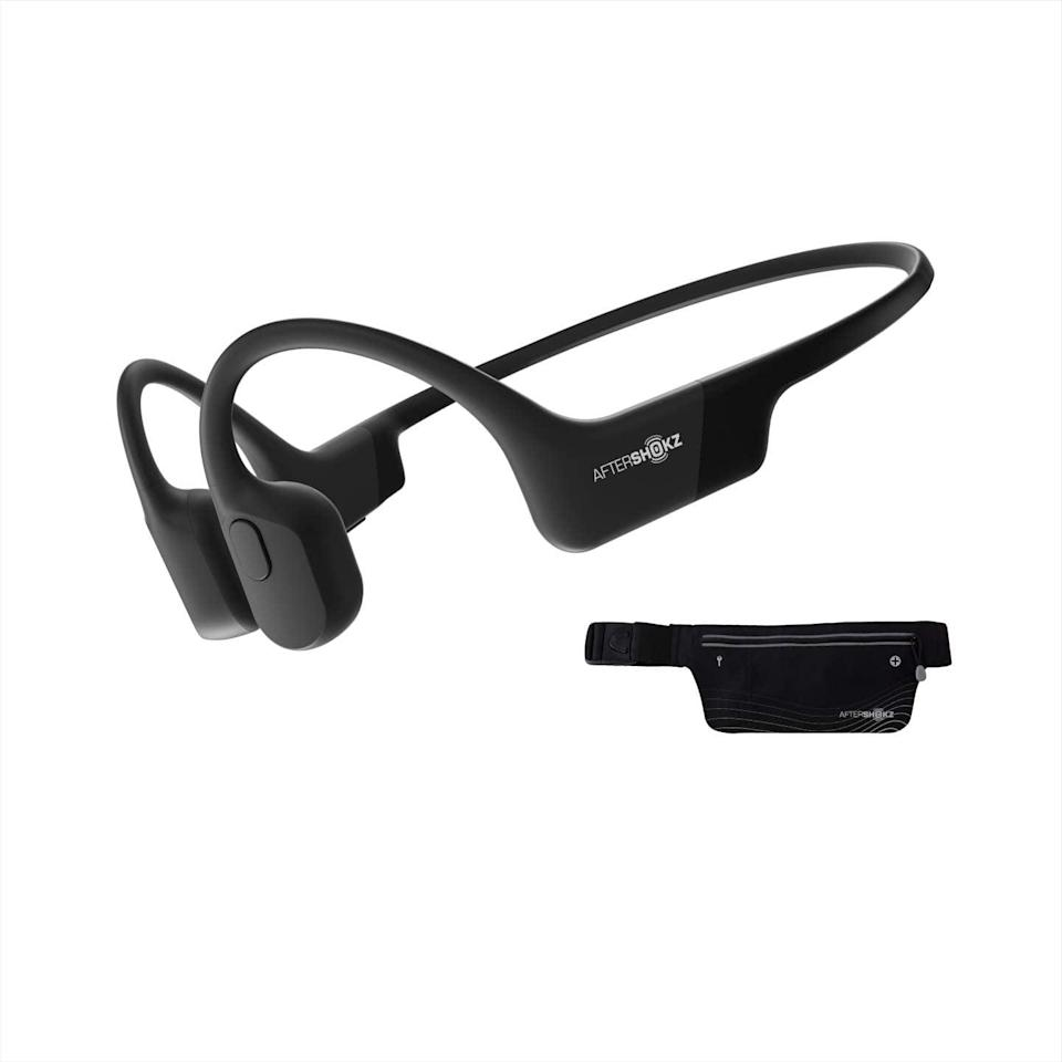 """<p>The <span>AfterShokz Aeropex Open-Ear Wireless Bone Conduction Headphones</span> ($160) are so good, two of our editors recommended them.</p> <p>""""Running safety is huge for me, so I was excited when AfterShokz sent me these bone-conduction headphones to try out. They sit just outside your ear and transmit sound through your cheekbones, so you can hear ambient noise like cars, bikes, and other people. They're far and away my running headphones of choice."""" - Maggie Ryan, assistant editor, Fitness. </p> <p>""""I have weird ears, apparently, because earbuds are constantly falling out and I always have to readjust them while I'm running. With AfterShokz, which sits right above the ear and transmits sound through our bones, I never run into that problem. Plus, I can hear all the traffic around me while I'm running, and that makes me feel really safe."""" - Sarah Wasilak, editor, Fashion.</p>"""