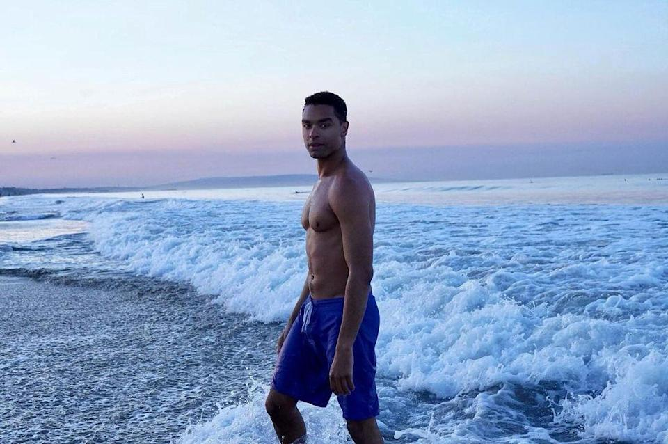 <p>Can you imagine anything more dreamy than a shirtless sunset swim with Page? Other than those <em>Bridgerton</em> scenes, that is ... </p>