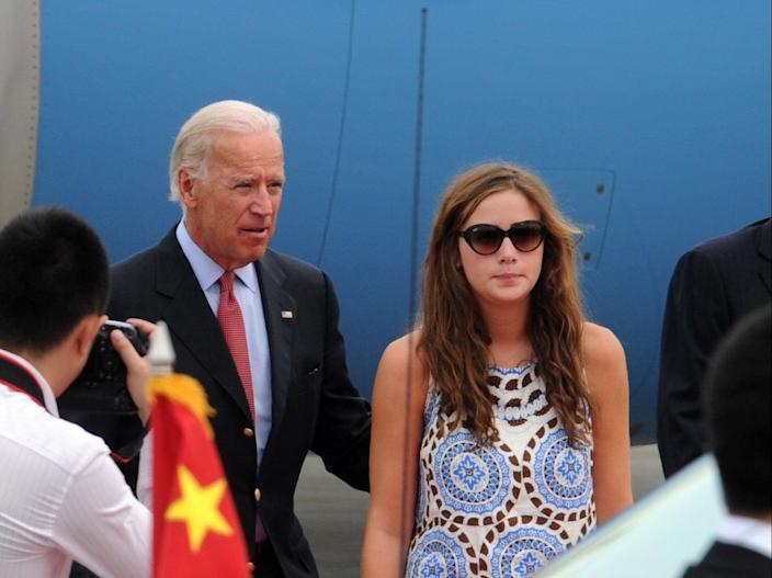 <p>File Image: Naomi Biden accompanying her grandfather Joe Biden during an official visit to China</p> (Getty Images)