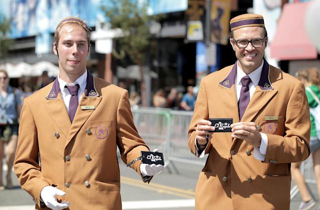 <p>Cosplayers dressed as El Royale staff at Comic-Con International on July 19, 2018, in San Diego. (Photo: Quinn P. Smith/Getty Images) </p>