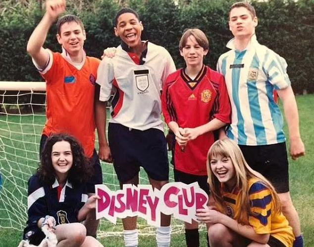 Paul Ballard, top left, is pictured next to Reggie Yates (centre) and Fearne Cotton (bottom right) before the trio starred on GMTV's children's programme Diggit from 1998 to 2002